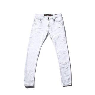 GABBA(ギャバ) スリムフィット ホワイト デニム パンツ