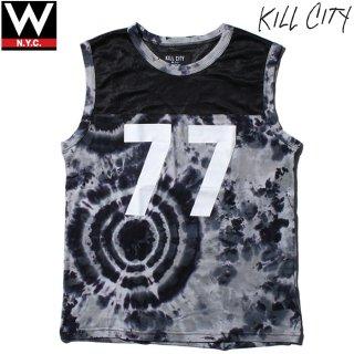 KILL CITY(キルシティ) タイダイ染め ナンバリング プリント ノースリーブ Tシャツ