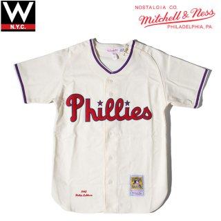 MITCHELL&NESS(ミッチェル&ネス) フィラデルフィア フィリーズ 1948年 リッチー・アシュバーン ゲームシャツ