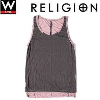 Religion(レリジョン) カットオフ バイカラー タンクトップ