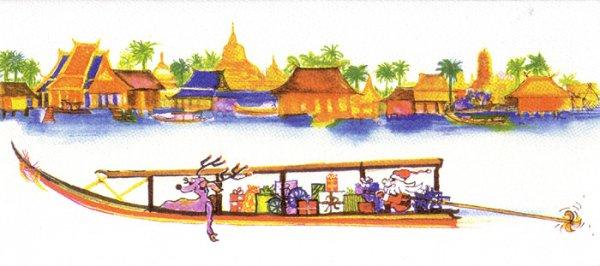 ナンシーチャンドラー グリーティングカード ワイドサイズ ロングテイルボート