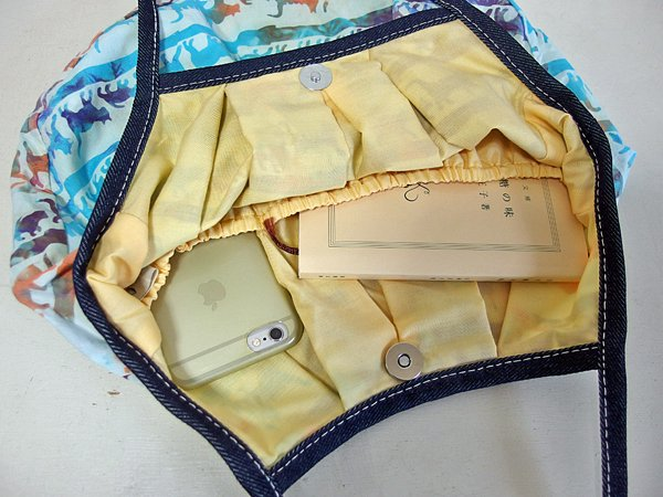 sisiグラニーバッグ 定番サイズ 猫柄バティック マーブル