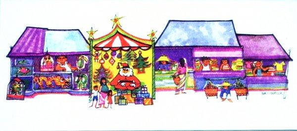 ナンシーチャンドラー グリーティングカード ワイドサイズ ホリディマーケット