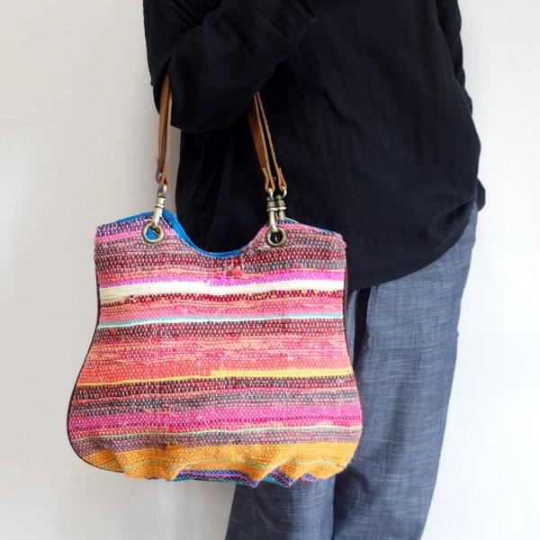 インド裂き織りトートバッグ 607 A various shop