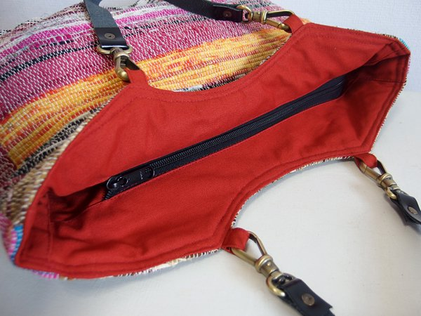 various shop ヴァリアスショップ インド裂き織りトートバッグ 608 B