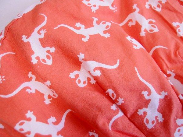 バリ島発オリジナルバッグ sisiバッグ sisiグラニーバッグ 定番サイズ トッケー オレンジ