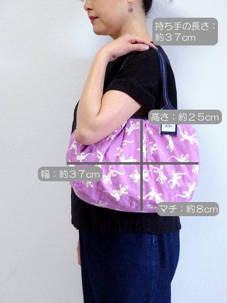 バリ島発オリジナルバッグ sisiバッグ sisiグラニーバッグ 定番サイズ トッケー パープル サイズ