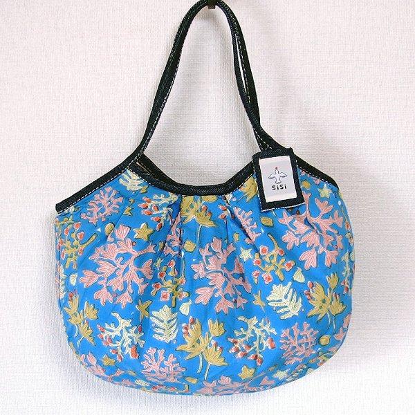 sisiグラニーバッグ 定番サイズ 珊瑚 ブルー