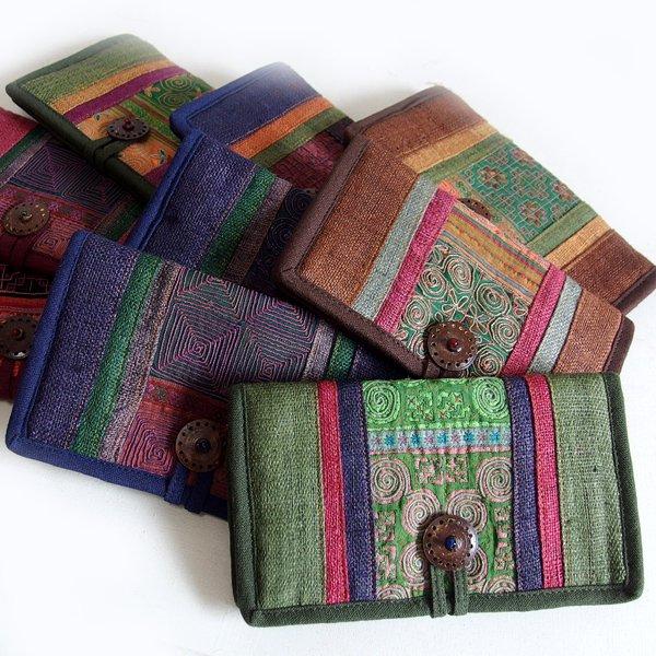 モン族 刺繍 長財布