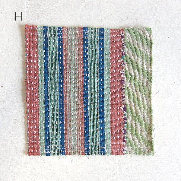 カンタ刺繍 ラリーキルト コースター