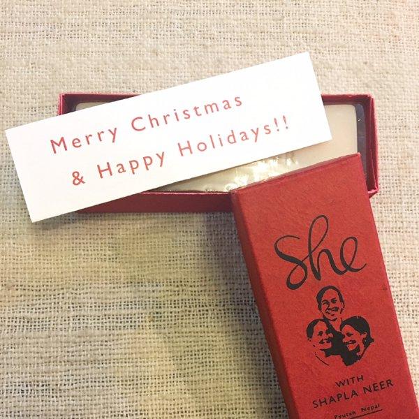 石鹸 she ピュータン クリスマスソープ (フェアトレード)