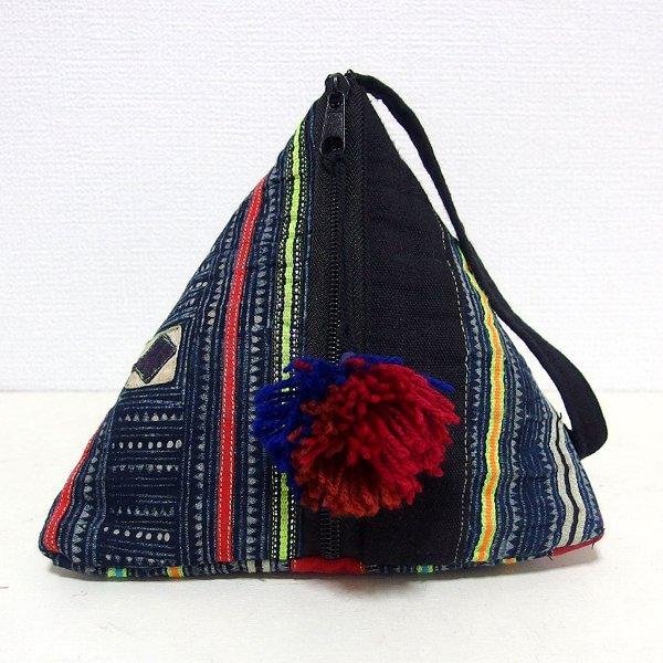 モン族 三角ポーチバッグ Sサイズ A