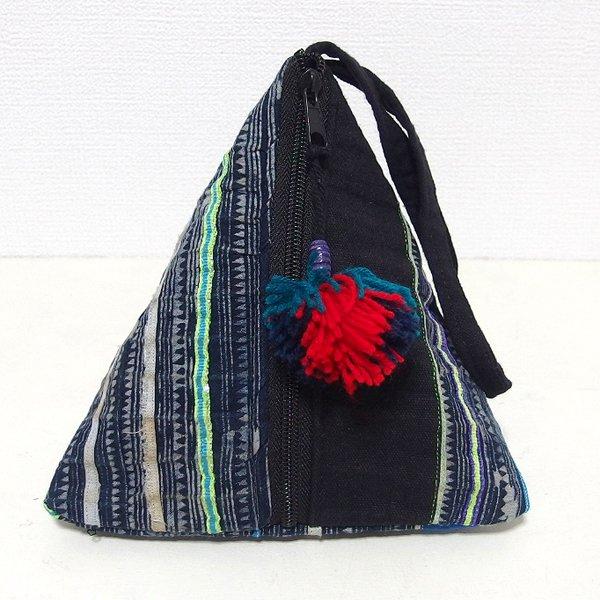 モン族 三角ポーチバッグ Sサイズ C