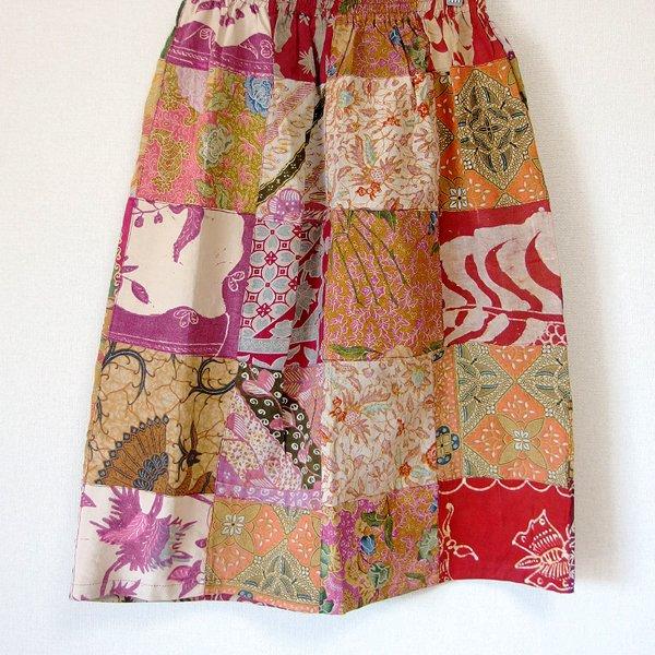 オールドバティックのパッチワーク ミディアムスカート 52