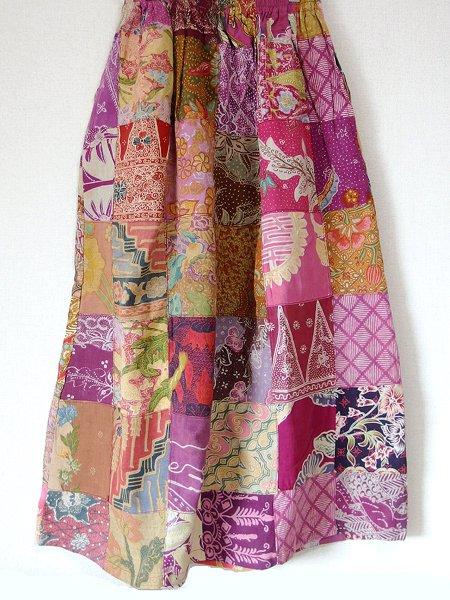 オールドバティック パッチワーク スカート
