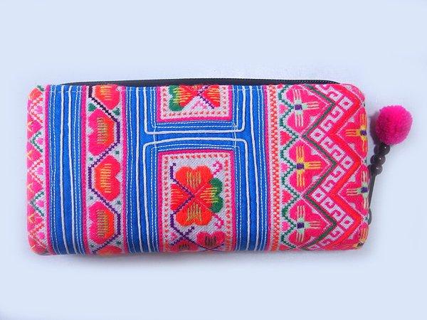 モン族 手刺繍 長財布