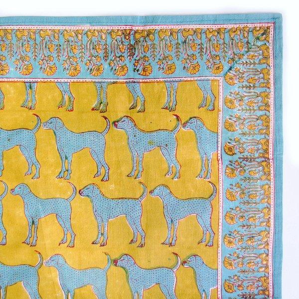 インド ブロックプリント バンダナ 03 犬