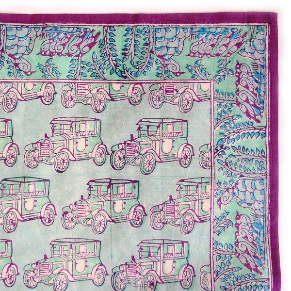 インド ブロックプリント バンダナ ハンカチ