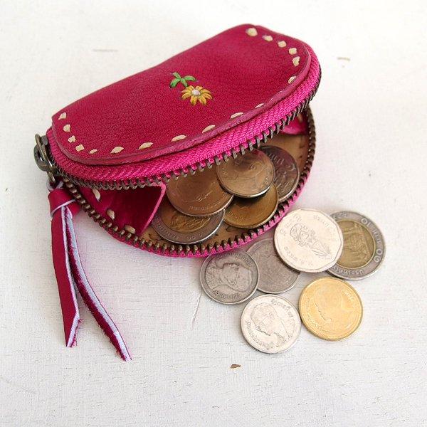 guate グアテ レザー 刺繍 コインケース 財布 小銭入れ