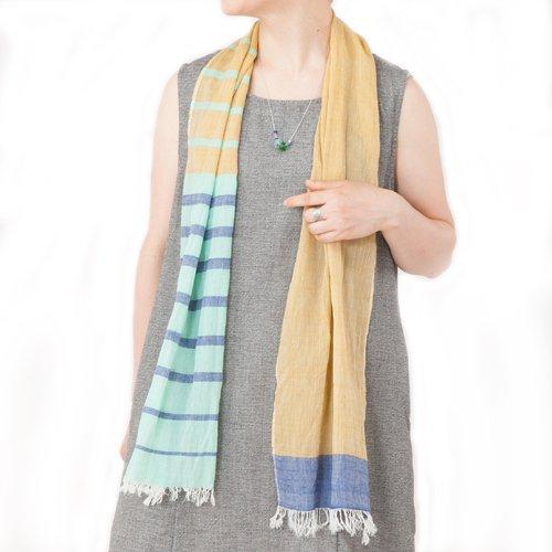 フェアトレード シサム工房 オーガニックコットン 手織り ショール ストール