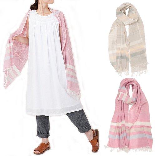 オーガニックコットン手織りマザーショール(フェアトレード)