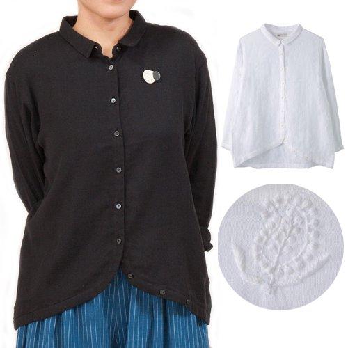 ダブルガーゼ すそカーブシャツ(フェアトレード )