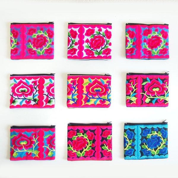 モン族 刺繍ポーチ