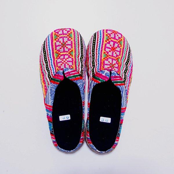 モン族刺繍サボ C(サイズ:36、S)