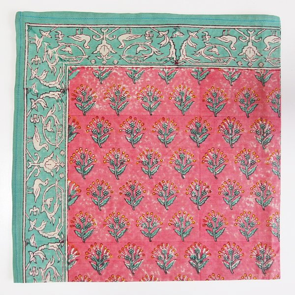 インド ブロックプリント バンダナ 32