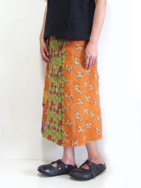カンタ刺繍 ラリーキルト スカート
