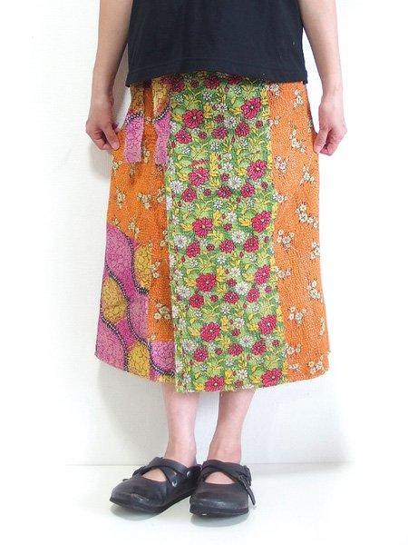 カンタ刺繍 リバーシブルラップスカート 17