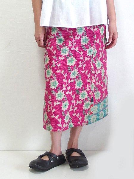カンタ刺繍 リバーシブルラップスカート 18