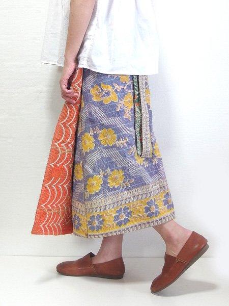 カンタ刺繍 リバーシブルラップスカート 19