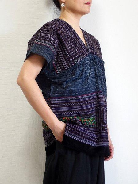モン族 貫頭衣 ブラウス シャツ