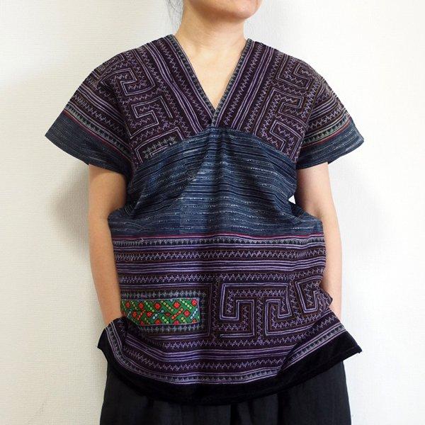 モン族 手刺繍貫頭衣 L