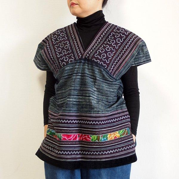 モン族 手刺繍貫頭衣 M
