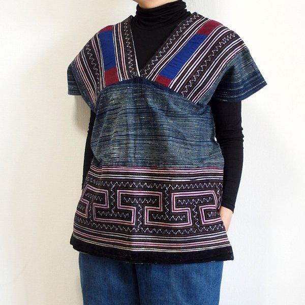モン族 手刺繍貫頭衣 N