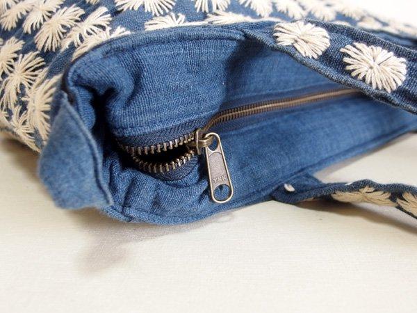 藍染め 刺し子 バッグ