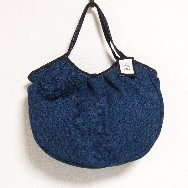 sisiグラニーバッグ 定番サイズ コサージュバッグ ブルー