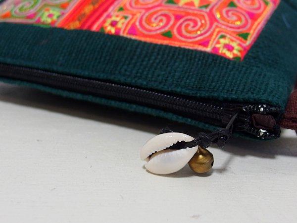 モン族 手刺繍 ポーチ