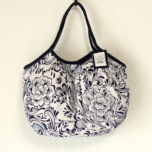 バリ島発オリジナルバッグ sisiバッグ sisiグラニーバッグ 定番サイズ コットンリネン 花柄