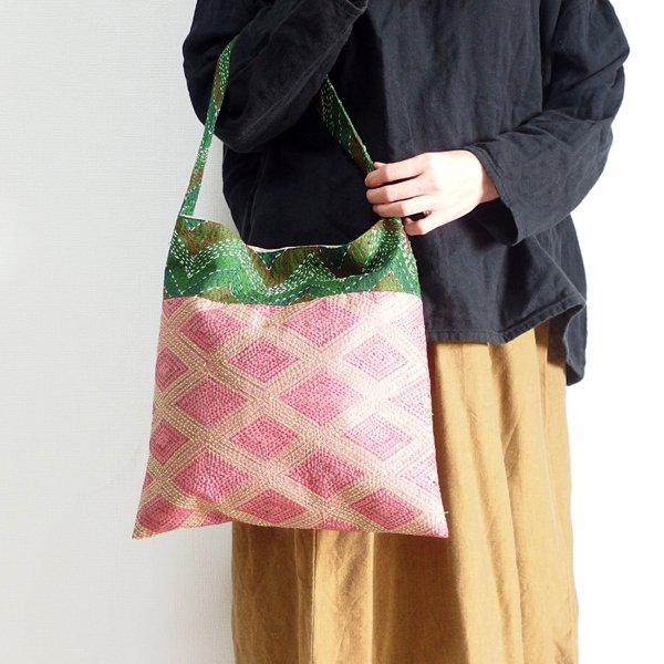 various shop シルクカンタ刺繍 ショルダーバッグ 910