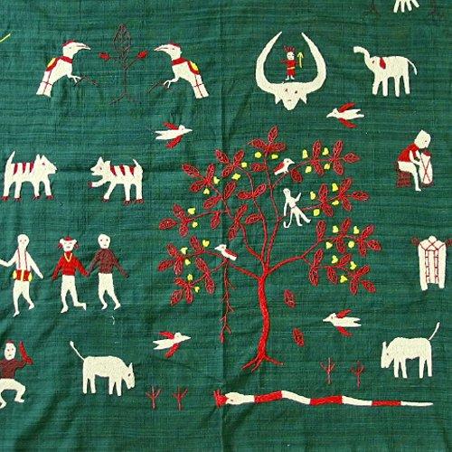 ナガ族 手刺繍タペストリー 01