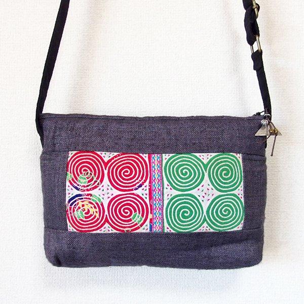モン族 手刺繍ポシェット 35A