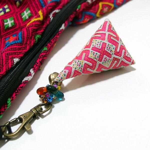 モン族 手刺繍チャーム キーホルダー 36A