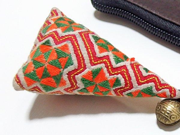 モン族 手刺繍 チャーム キーホルダー
