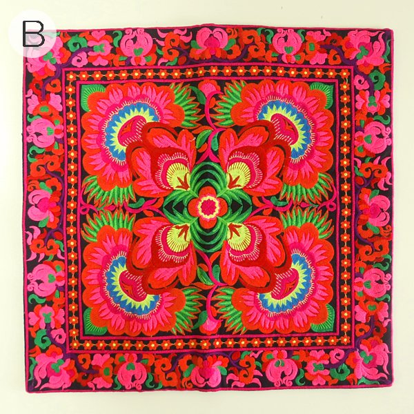 モン族 刺繍 クッションカバー