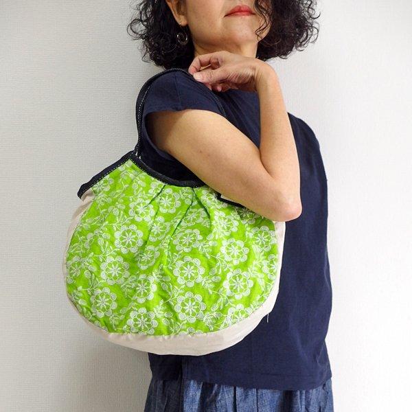 sisiグラニーバッグ 定番サイズ インド刺繍 グリーン