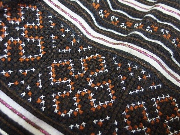 モン族 刺繍 スカート