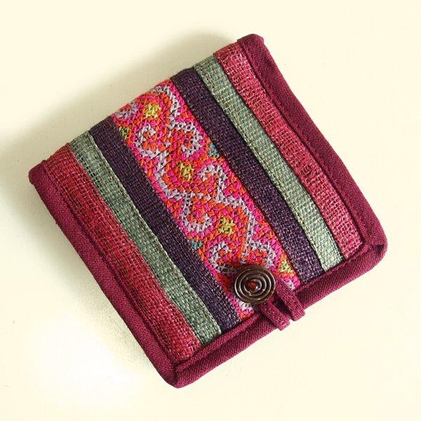 モン族手刺繍 二つ折り財布 53b